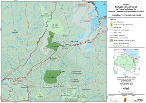 Mapa de las Tierras Indígenas donde se centran las actividades del proyecto de CTI en Maranhão.